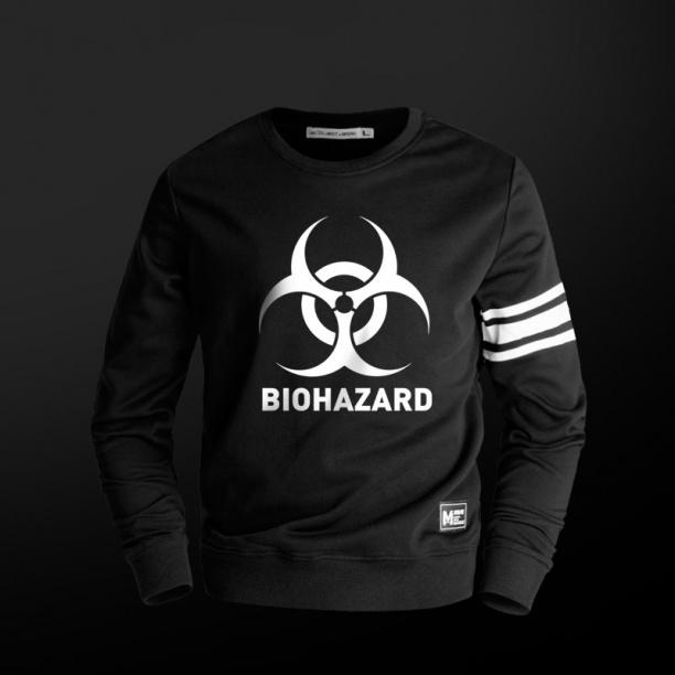 Resident Evil Biohazard Sweatshirt Mens Black Hoodie