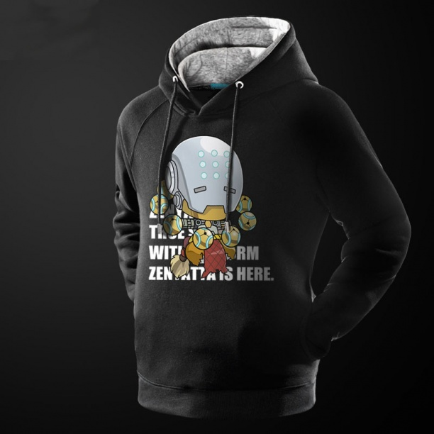 Lovely Design Overwatch Zenyatta Black Hoodie For Him