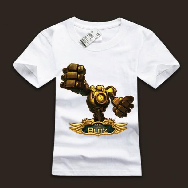 LOL Blitzcrank T-Shirts Great Steam Golem Tees For Boys