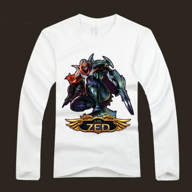 LOL Zed Long Sleeve Tee Shirts For Men