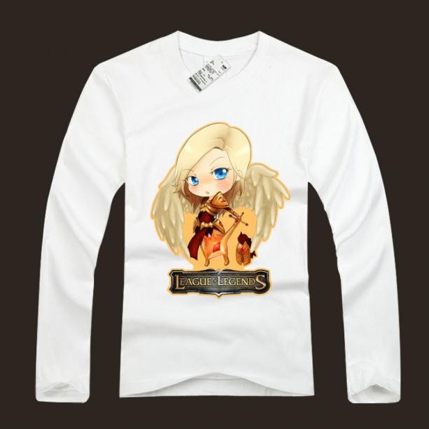 LOL Kayle T Shirts 100% Cotton Judicator Tees For Men