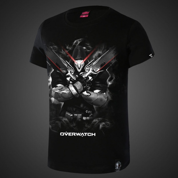 Cool Overwatch Reaper Black T-shirts For Mens