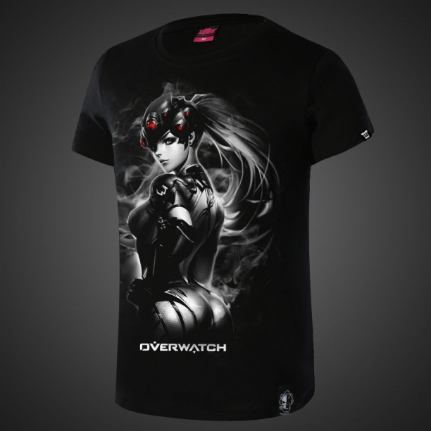 Widowmaker Overwatch Hero Tees 4XL Black Tshirt For Mens
