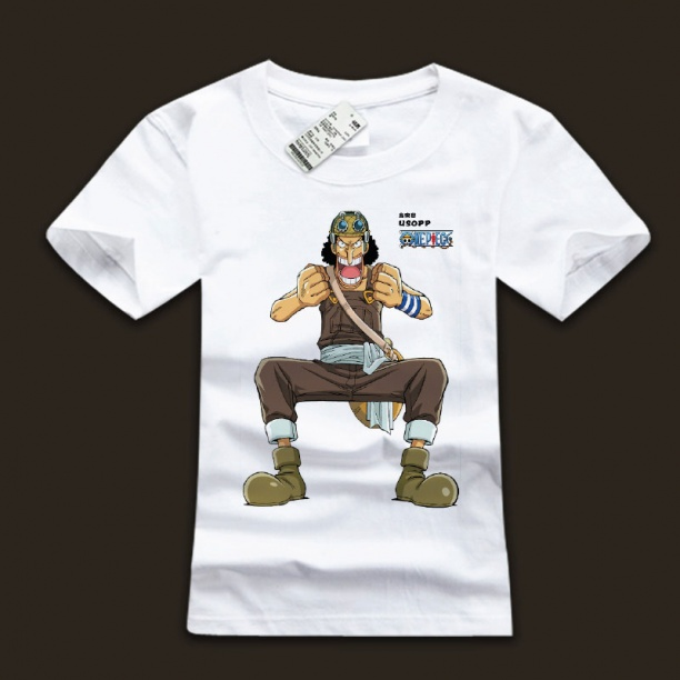 White One Piece God Usopp T Shirts With Plus Size