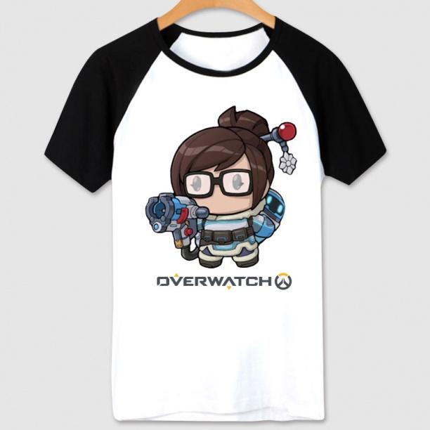 Overwatch Hero Mei Tshirts White Couple T-Shirt