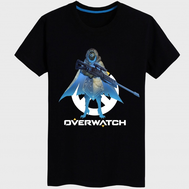 Black Overwatch Pharah Hero Tee shirt For Mens Womens
