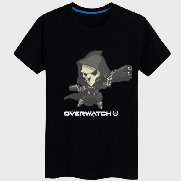 Black Blizzard Overwatch Hero Shirts For Young Mens