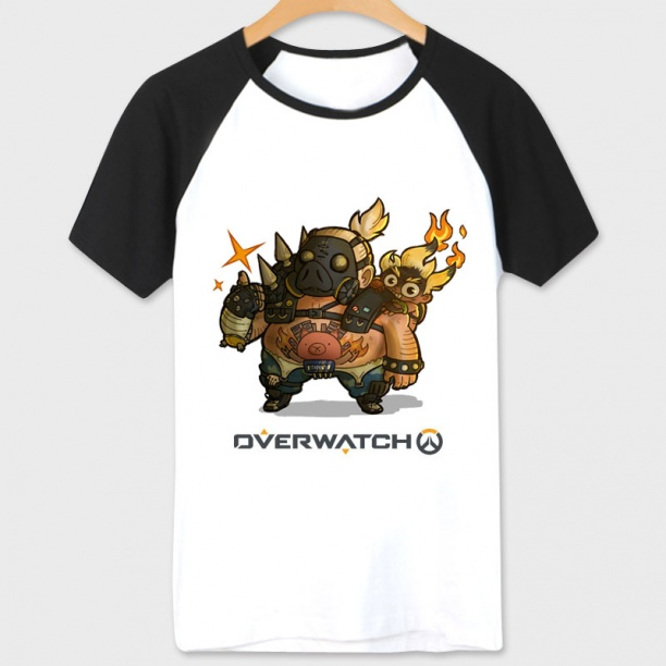 Overwatch Roadhog Character Shirt Women white Tshirts