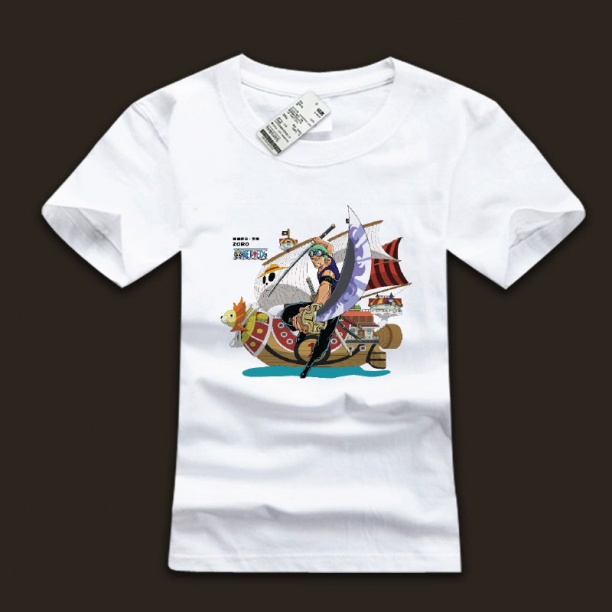 Roronoa Zoro One Piece Ink 3xl White T-shirts