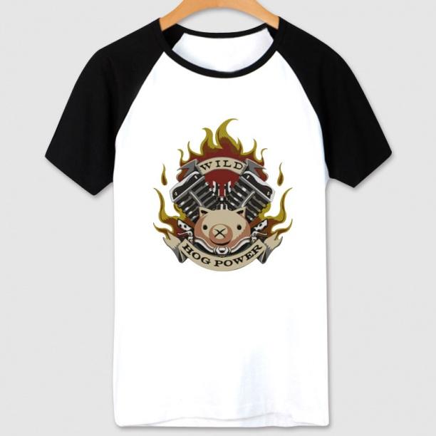 Cartoon Overwatch Roadhog T shirt For Young white Shirts