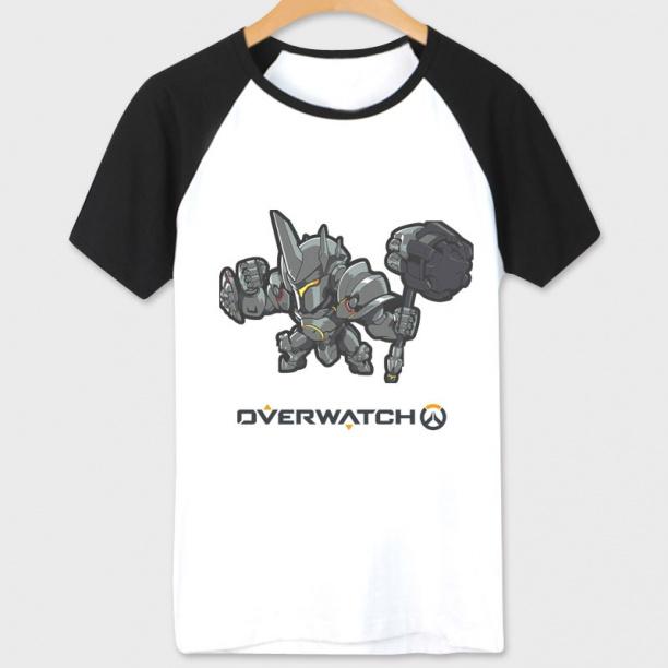 Over Watch Game Reinhardt Hero Tees Unisex white T-shirts