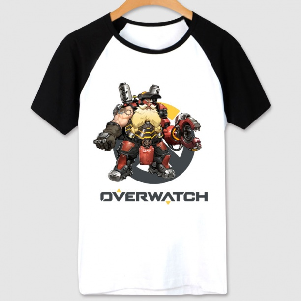 Overwatch Torbjorn Hero T Shirts white Tee For Mens