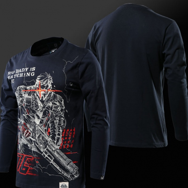 Blizzard Overwatch Soldier 76 Shirts Men black T-shirt