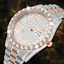 Quartz Clock Ros Gold Watch Men Waterproof Chronograph Dial Watch Men