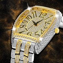 Arabic Numerals Mens Watches Luxury Silver Watch
