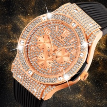 Men Watches Luxury Men's Casual Dress Premium Rubber Strap Watch Quartz Wristwatches