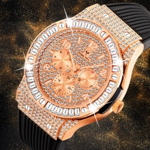 Men Watches Rubber Strap Steel Quartz Watch Men Date Clock Chronograph