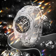 Mechanical Watches For Men Automatic Luxury Business Steel Wristwatch