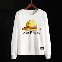 One Piece Hat Hoodie Men white Crewneck Sweatshirts