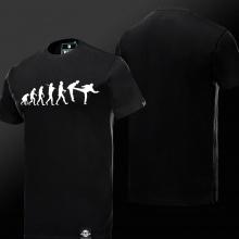 The Big Bang Theory Evolution Wars T-shirts TBBT Black Tees