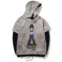Cool Dragon Ball Vegeta Hoodie DBZ Gray Pullover Sweatshirt For Men Boy