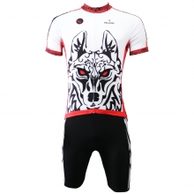 3D Wolf Warriors Cycling Jerseys 100% Polyester bike suits