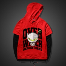 Lovely Genji Hoodie Red Blizzard Overwatch Sweater For Boy Men