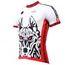 Cool 3D Wolf Warriors Cycling Jersey short sleeve men bike jerseys