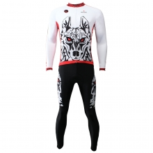 3D Wolf Warriors Cycling Jerseys long sleeve men bike clothing
