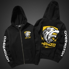Unique Hanzo Hoodie Overwatch Hero Sweatshirt Zip Up Black 3XL Sweater