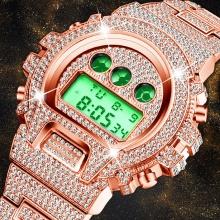 Style Shock Men Luxury Watch 30M Waterproof Wristwatch LED Rose Gold Clock Luxury Watch Male