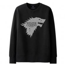 Game of Thrones House Stark Wolf Sweatshirt  Black Mens Hoodie Gifts