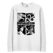 Game Of Thrones Clothing White Mens Sweatshirt