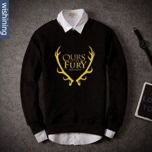 Game Of Thrones House Baratheon Hoodie Ours is the fury Black Sweatshirt Gifts for Him