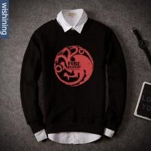 Fire and Blood Targaryen Sweatshirt Game Of Thrones Hoodie For Men