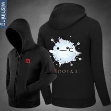 DOTA 2 Io Hoodie Black Zip Up Sweatshirt for Men