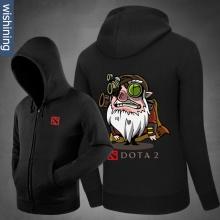 DOTA 2 Sniper Hoodie Black Zip Up Sweatshirt for Mens