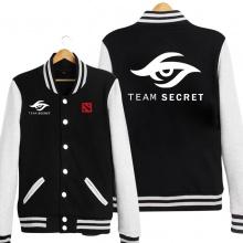 DOTA 2 Secret Team Baseball Hoodie Black Sweatshrit Gift For Him