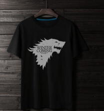 Game of Thrones Winter is Coming Stark T-shirts Mens Black Tee Shirt