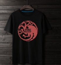 Game of Thrones Targaryen Fire Blood Tee For Boys Black Tshirts