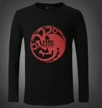 Game of Thrones Fire blood Targaryen T-shirts Mens Black Tee Shirt
