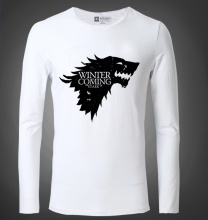 Game of Thrones Winter Is Coming stark Tshirt Mens Black Tee