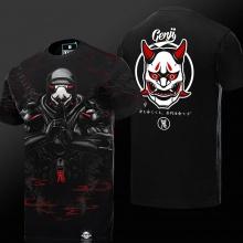 Limited Edition Overwatch 3D Gengi Cosplay T-shirt OW Hero Black Tee Shirt