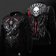 Cool Overwatch Gothic Version Reaper Tshirts Blizzard Long Sleeve Black Tees