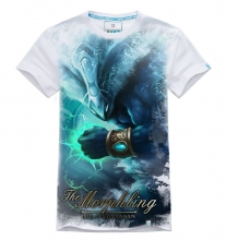 3D White DOTA 2 Morphling T-shirt Mens 100% Cotton Tees
