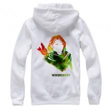 DOTA 2 Windrunner Hoodies Windranger Plus Size Zip Sweatshirt For Mens