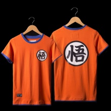 Dragon Ball Son Goku T-shirts Mens Orange Tee Shirt