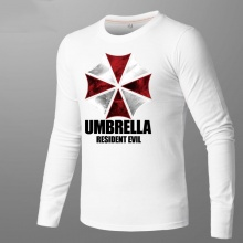 Resident Evil Umbrella T-shirt Men White Shirts