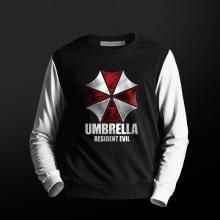 Resident Evil Biohazard Sweatshirt Hombres Negro CrewNeck Suéter