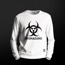 Resident Evil Biohazard Hoodie Hombres Blanco Crewneck Sudaderas